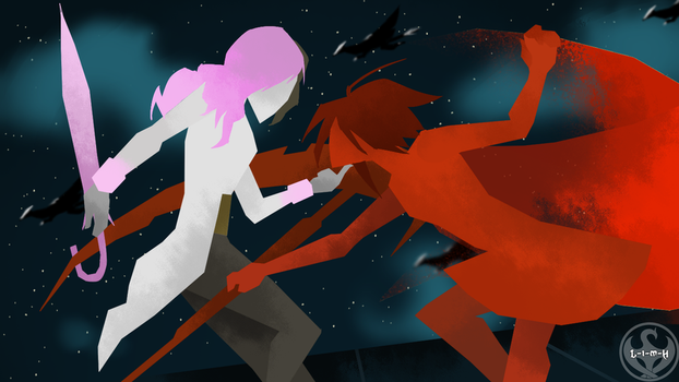 World of Remnant style Ruby vs. Neopolitan by Lightning-in-my-Hand