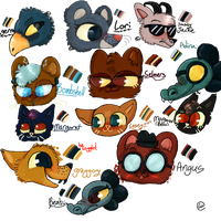 Night in the woods Head-shops by Nebula-pAws