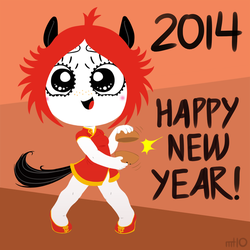 Ruby Gloom Chinese New Year 2014 by empty-10