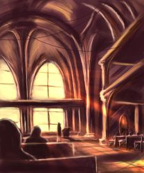 speedpaint - church interior by o-six