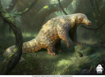 The Jungle Book: Pangolin concept by michaelkutsche