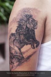 Lion tattoo by Javagreeen