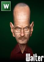 Breaking Bad Caricature - Walter White by Sycra