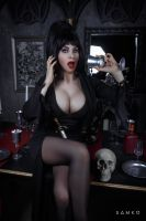 Elvira, Mistress of the Dark Cosplay by elenasamko