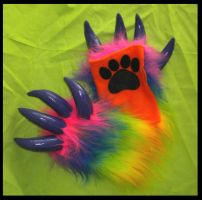 Wrist Rainbow Monster Armwarmers by StuffItCreations