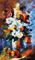 Flowers by Leonid Afremov by Leonidafremov