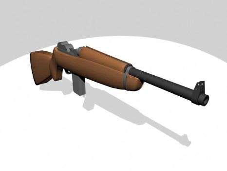 3D Cartoony M1 Carbine by tanka2d