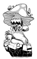 Mushroom Monster Inks 72317 by EryckWebbGraphics