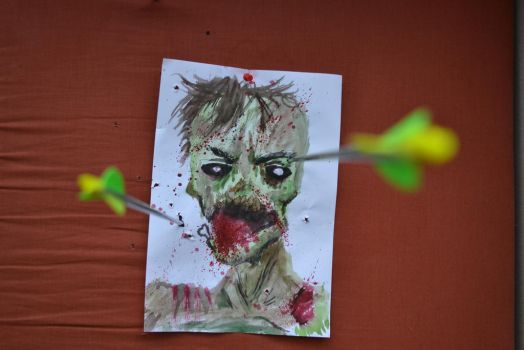 archery practice zombie theme by 7744528