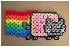 .:nyan cat bead sprite:. by Miss-It-Girl