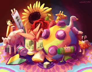 Sleepy Katamari by whinges