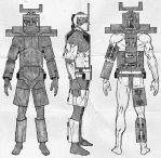 MMM - Convertible Armored Fighting Suit Belt V.1 by Kk-Man