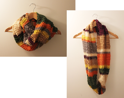 I crocheted a 4th doctor inspired scarf! by LoopTeeLoops