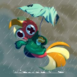 Fish in The Rain by Pink-Doodlr