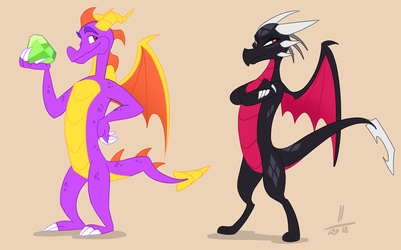 Spyro in mlp style ?! by AvaronCave