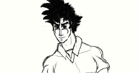 Son Kenshiro (adult) by TitaniumFerrous