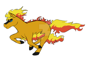Horse as a Ponyta by Snail-Duck