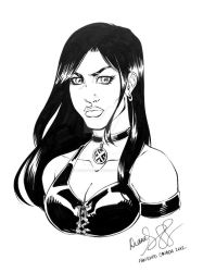 Fan Expo 2012 X-23 sketch by mechangel2002