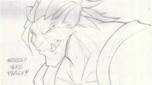 LUNCHTIME SKETCH B. Bad Wolf by ShoNuff44