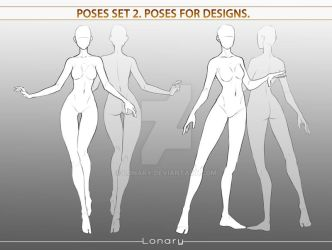 Poses set 2. Poses for designs. by Lonary