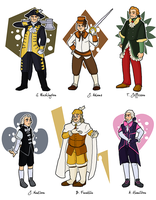 Magical Girl Founding Fathers by Publius-Reporter
