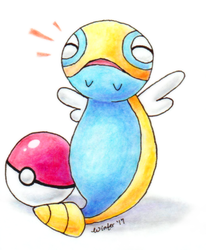 Traditional Dunsparce (Commission) by Wintercel