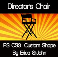 Directors Chair PS CS3 Shape by estjohn