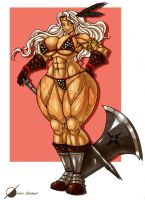 Commission: Amazon Dragons Crown by Osmar-Shotgun