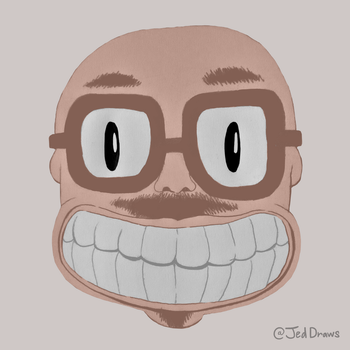 Anthony Fantano Fanart (Version 4) by JedDraws