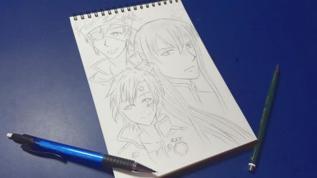 D.Gray-man scribbles by CrystalMelody-FT