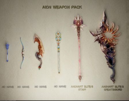 AION weapons: pack 1 by Samouel