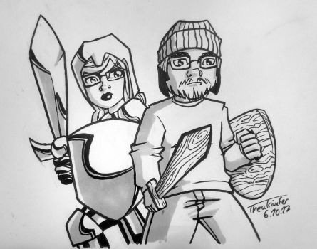 Inktober 2017 #6: Wood and Steel by zAidoT