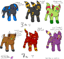 Cheap Umbreon Adoptables-close by Filly-Milly