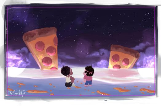Steven Universe Pizza Dream by Rumplekillsin