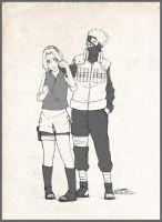Kakashi and Sakura -Commission by ToPpeRa-TPR