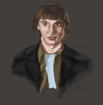 Tablet Practice- Eric Millegan by faded-impression