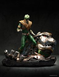 Green Ranger Concept statue by CarlosDattoliArt