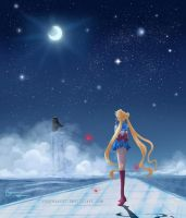 Sailor Moon - Gazing after Tuxedo Mask by reginaac57