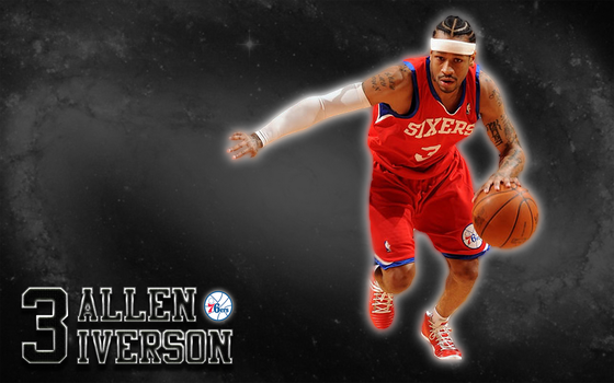 Allen Iverson (Philadelphia 76ers) Wallpaper by JaidynM