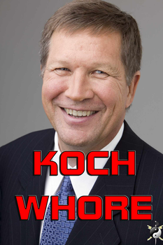 Gov. Kasich Koch Whore by ByteManx