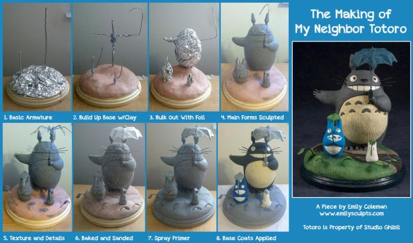 The Making of My Neighbor Totoro by emilySculpts