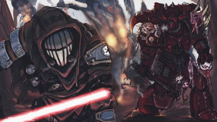 The eternal dispute (sith-vs-marine) by SeeleDS