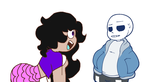 *used base *Abagail And Sans by fluffycatjeff