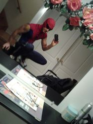 My Spidey Costume pose2 by clyde0o0o