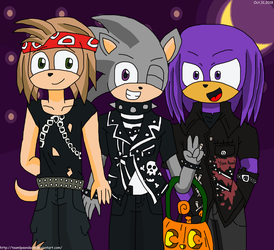 Sonic Adopts as 80 Punks by teamlpsandacnl