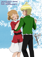 Pokemon :: Serena and Clemont :: Dancing by Sunney90