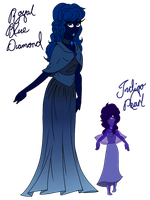 {~CLOSED~} Royal Blue Diamond and her Pearl Adopts by Pepsi-Meth
