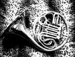 French horn leopard Charcoal by Zutarianartist