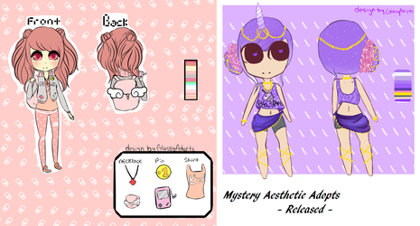 Mystery Aesthetic Adopts - Released - by GlossyAdopts