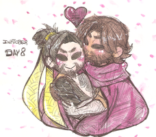 Inktober day 8 - McHanzo by akkame